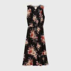 Knox Rose Floral Print Sleeveless Maxi Dress M